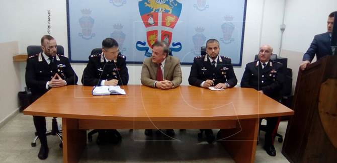 La conferenza stampa al Comando provinciale dei Carabinieri di Vibo Valentia