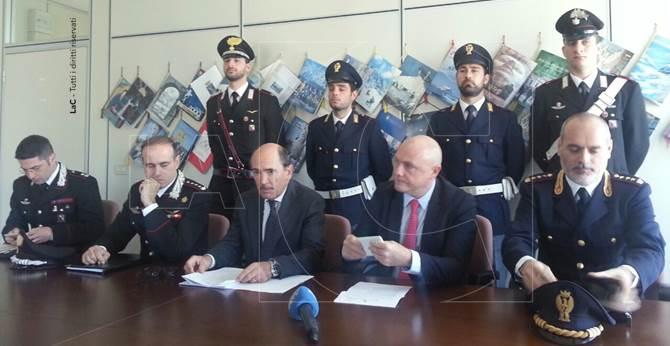 Conferenza stampa dell'operazione