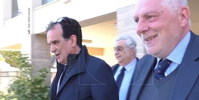 Enzo Bruno dopo l'interrogatorio di garanzia