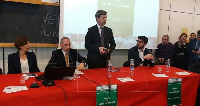 Il ministro Andrea Orlando all'Unical