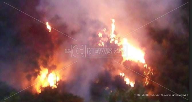 Incendio a Lamezia