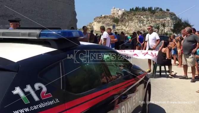 Protesta a Tropea