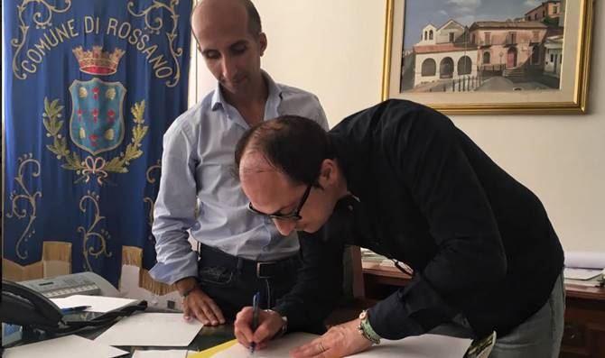 Rossano, firma del protocollo