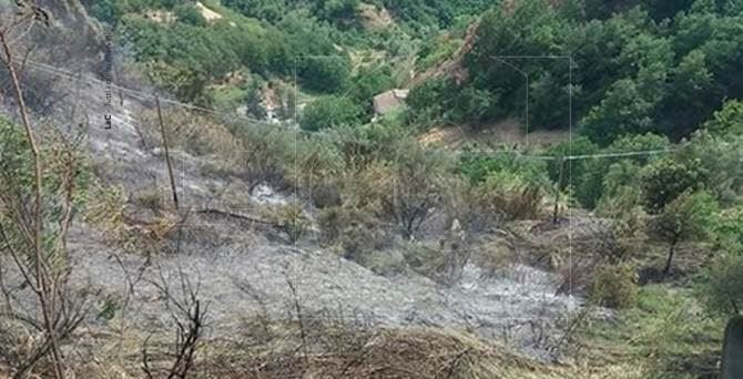 Incendio a Cosenza