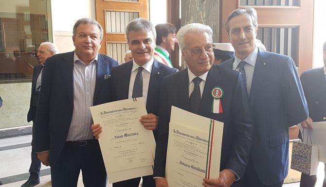 Giovan Battista Perciaccante, Natale Mazzuca, Vittorio Giuliani e Branda