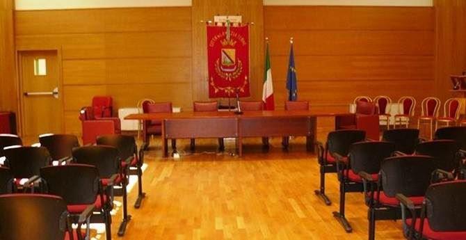 La sala del Consiglio comunale di Lamezia