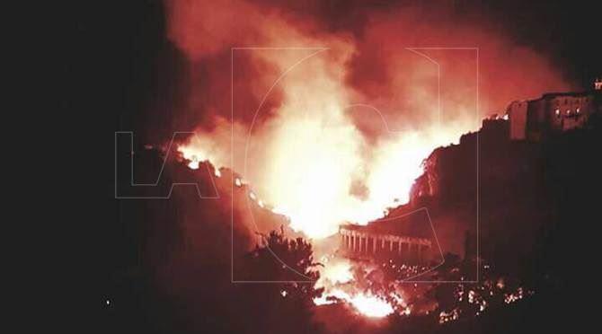 Incendio a Rossano