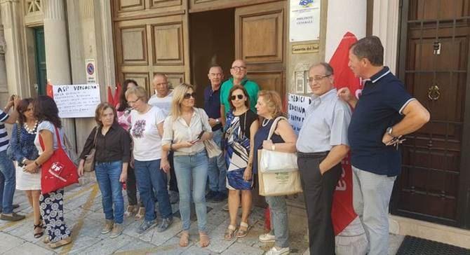 Sit-in di protesta a Reggio
