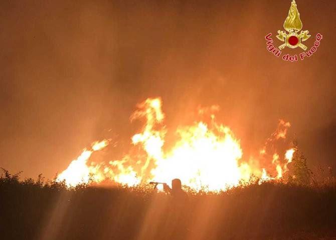 L'incendio a Zaccanopoli