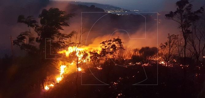 Incendio a Soverato Superiore