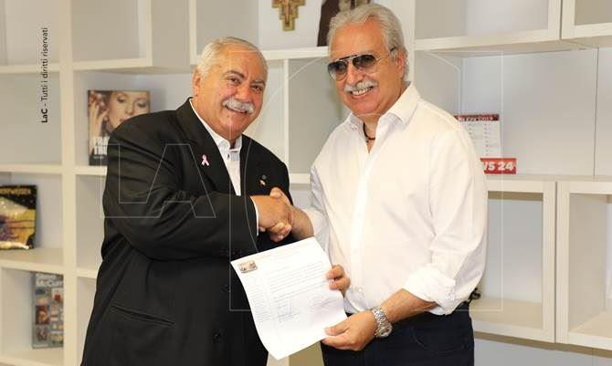 Il presidente Didiano e il direttore di rete Cilurzo