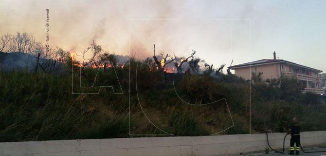 Incendio a viale De Filippis