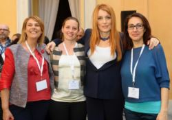 Da sinistra a destra: Mariella Cipparrone, Marina Betrò, l'On. Michela Vittoria Brambilla e Lea Santaniello