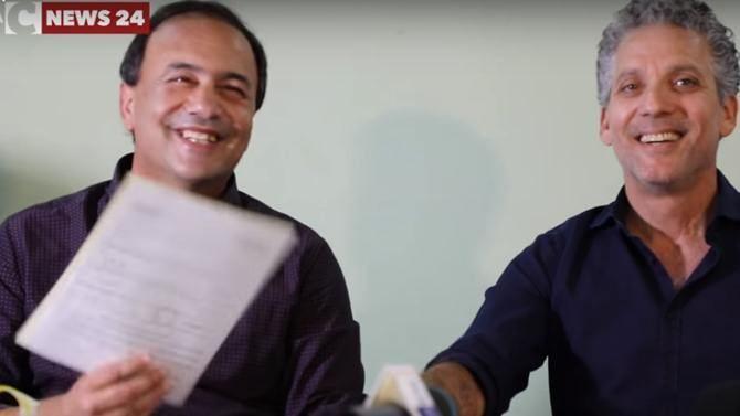 Mimmo Lucano e Beppe Fiorello