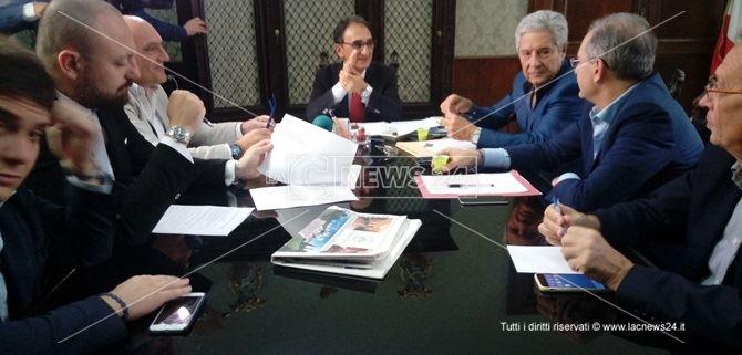 L'incontro tra i quattro sindaci dell'area centrale