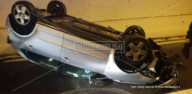 L'incidente si è verificato nelle gallerie in direzione Soverato