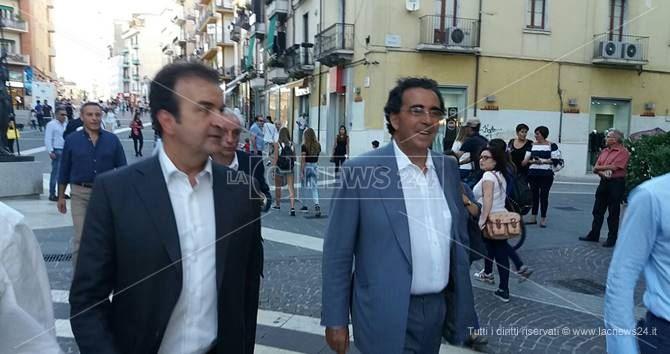 Il sindaco Occhiuto e l'architetto Calatrava