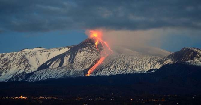 L'Etna in eruzione