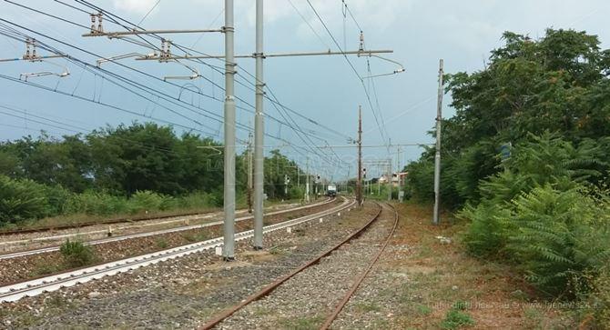 Il tratto ferroviario dove è avvenuto l'impatto