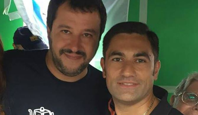 Matteo Salvini e il deputato Domenico Furgiuele