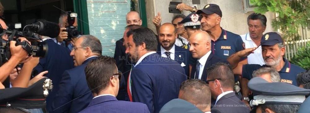 Matteo Salvini a San Luca