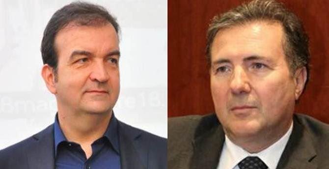 Il sindaco Occhiuto e l'ex senatore Aiello