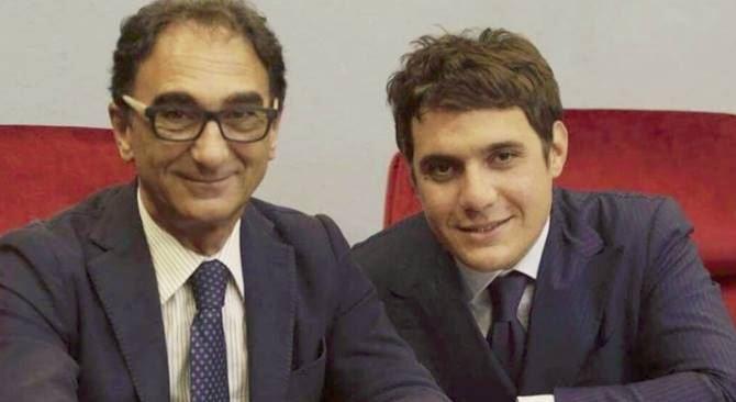Il sindaco Abramo e il presidente del Consiglio Polimeni