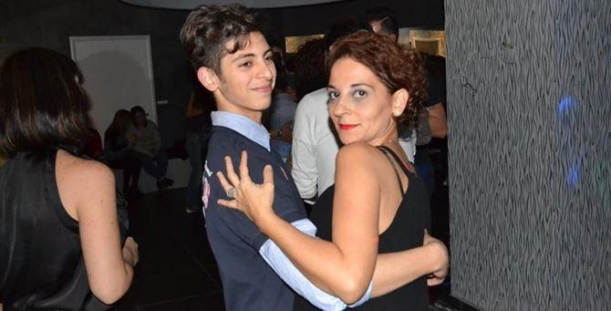 Giuseppe Parretta insieme alla madre, Katia Villirillo