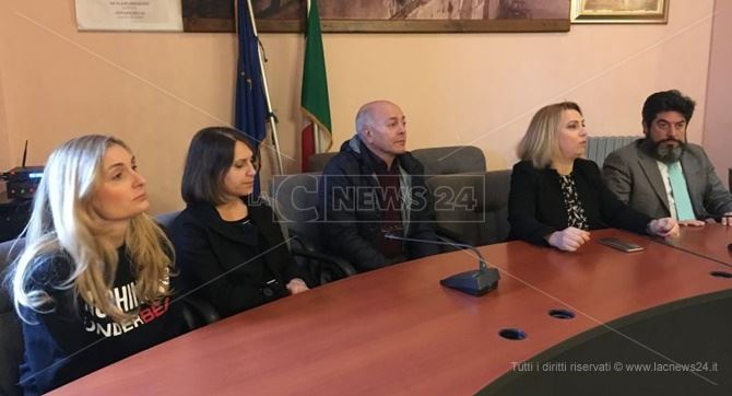 La conferenza stampa a Caulonia