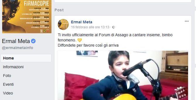Il post di Ermal Meta