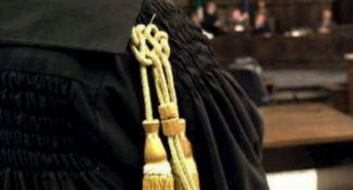 Una toga in tribunale