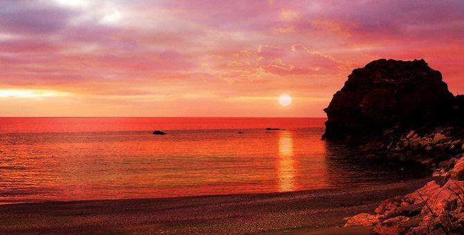 La spiaggia di Coreca