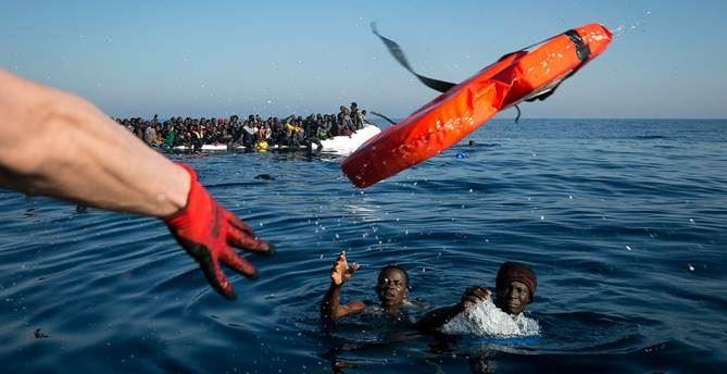 Foto della Ong Sea Watch