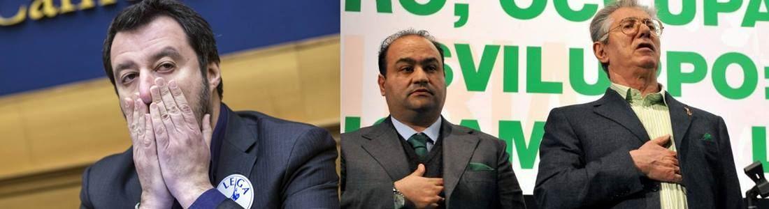 Matteo Salvini, Francesco Belsito e Umberto Bossi