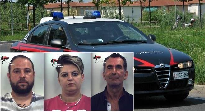 Le tre persone arrestate