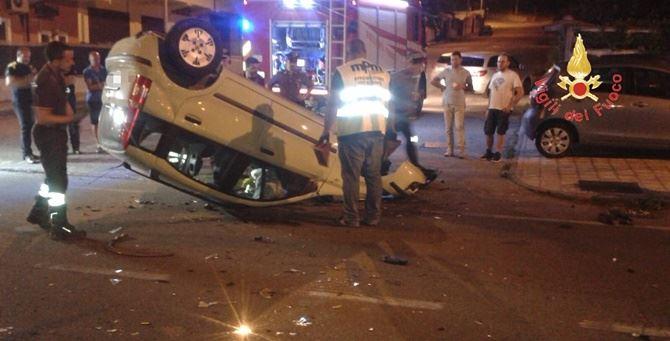 Incidente in via Marconi a Lamezia Terme
