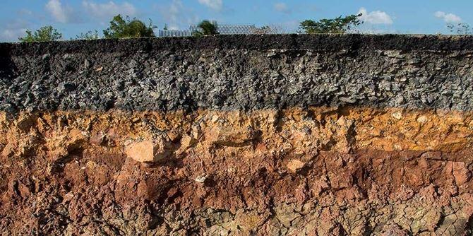 Un esempio di stratificazione del terreno
