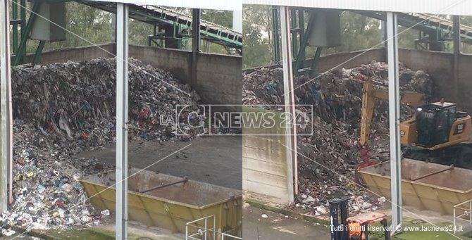Prima e dopo. L'impianto di trattamento dei rifiuti di Alli a Catanzaro