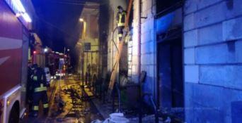 L'incendio del locale a Reggio