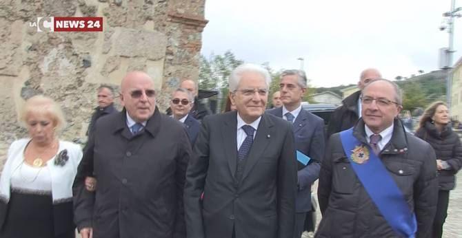 Sergio Mattarella a San Demetrio Corone