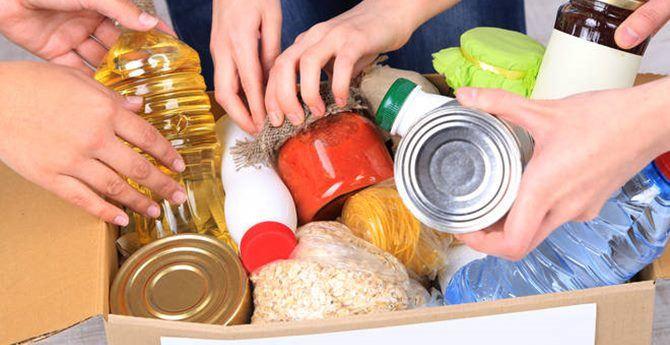 Alimenti da donare ai più bisognosi