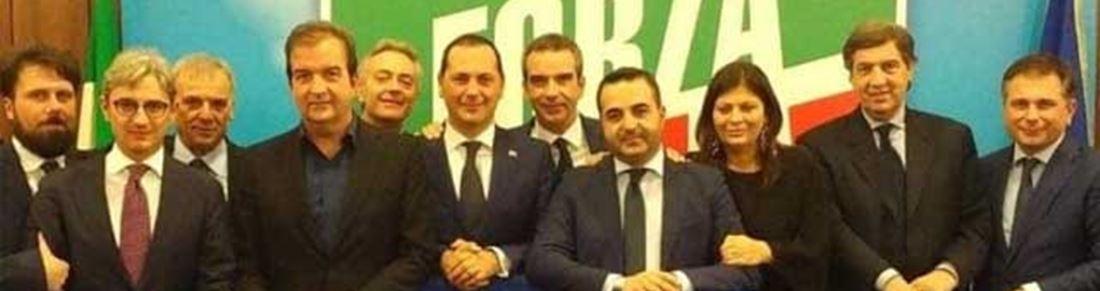 I partecipanti alla riunione nella sede romana di Forza Italia