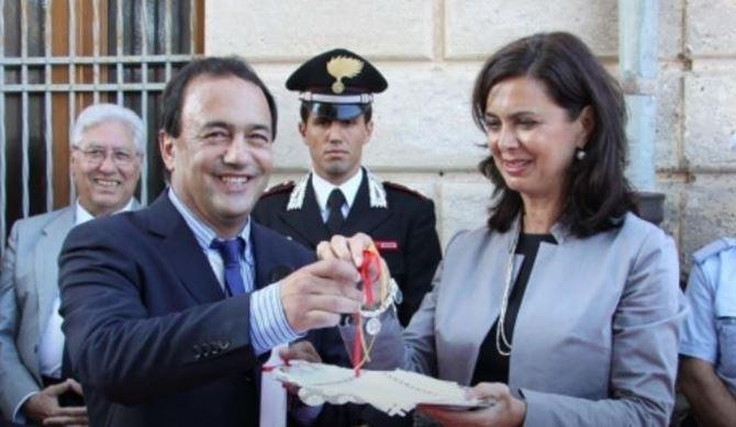 Mimmo Lucano e Laura Boldrini