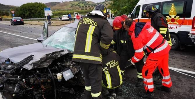 L'incidente stradale a Crotone