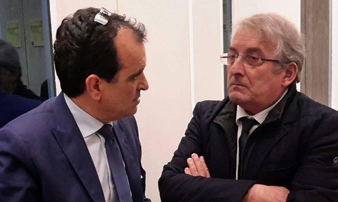 Enzo Bruno e il senatore Enzo Magorno