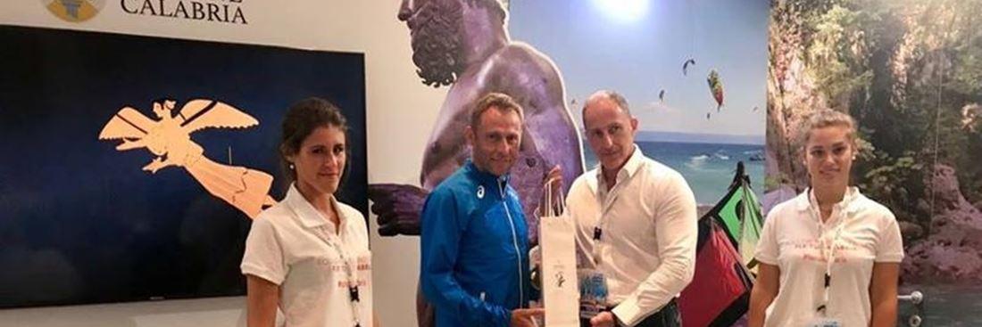 Lo stand della Regione Calabria ai Campionati europei di Atletica Leggera