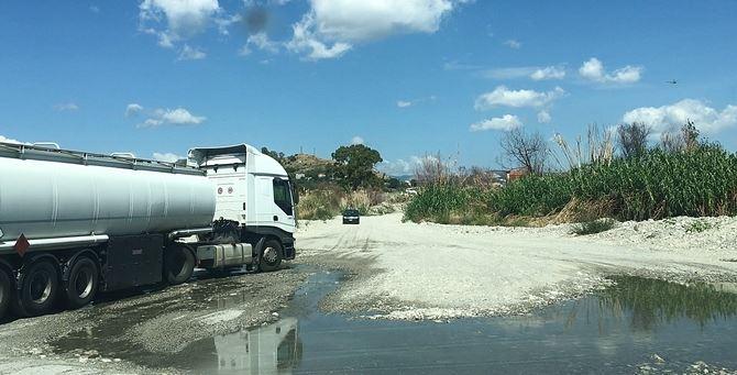 Il guado per attraversare il fiume Allaro