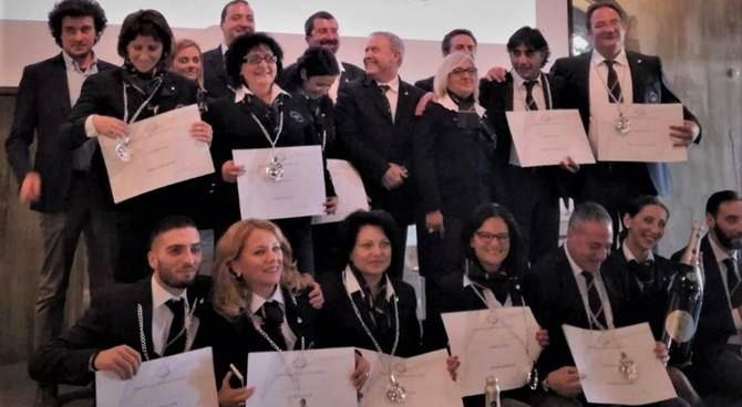 I sommelier che hanno ricevuto il diploma