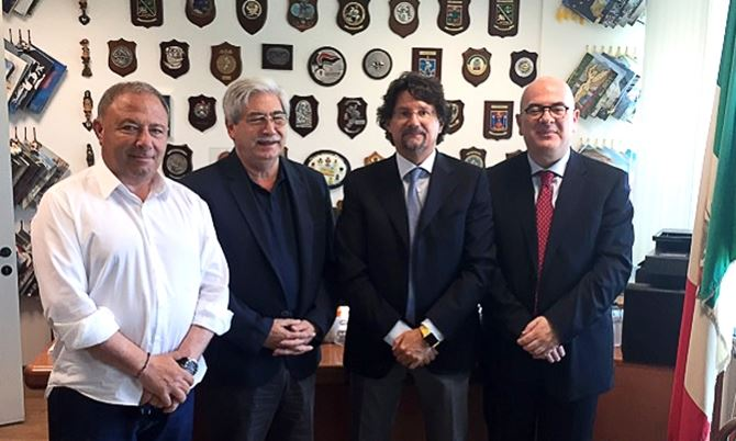 Michele Albanese, Giuseppe Soluri, Giovanni Bombardieri e Carlo Parisi