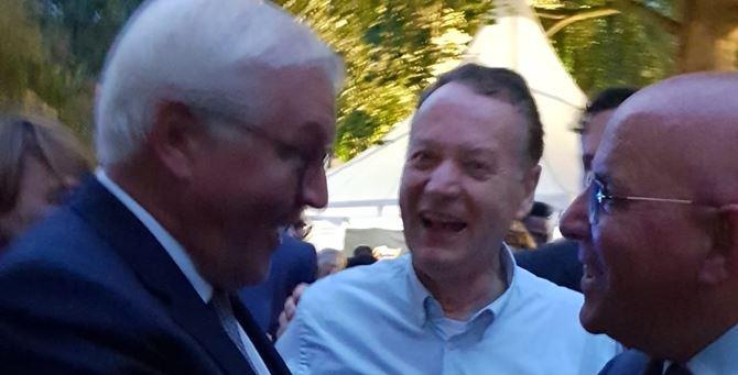 Il presidente Frank-Walter Steinmeier e Mario Oliverio